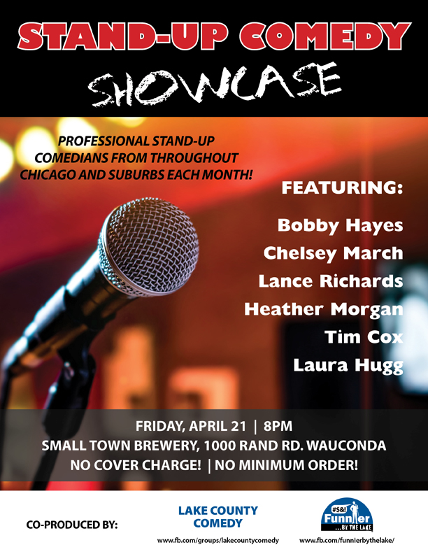 Funnier By The Lake Comedy | Small Town Brewery Wauconda